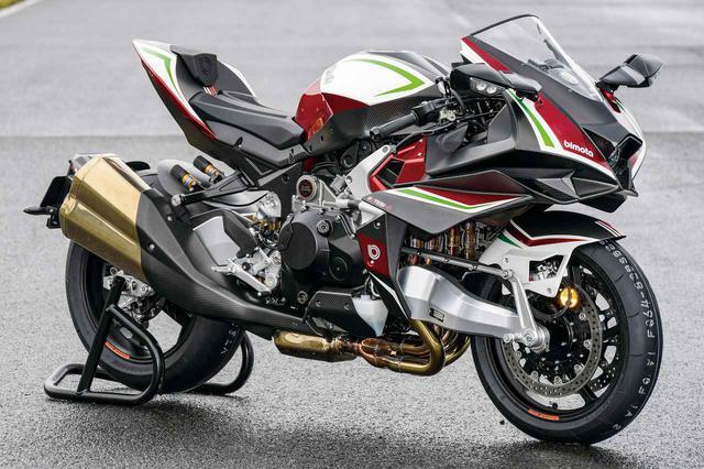 画像: BIMOTA TESI H2 総排気量:998cc エンジン形式:水冷4ストDOHC16バルブ並列4気筒 シート高:840mm 車両重量:207kg 税込価格:886万8000円