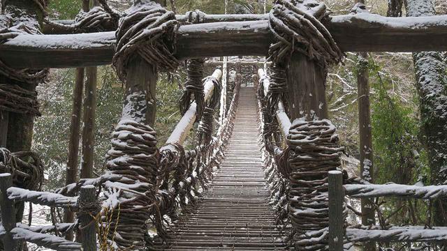 画像: ▲祖谷のかずら橋(徳島県三好市)