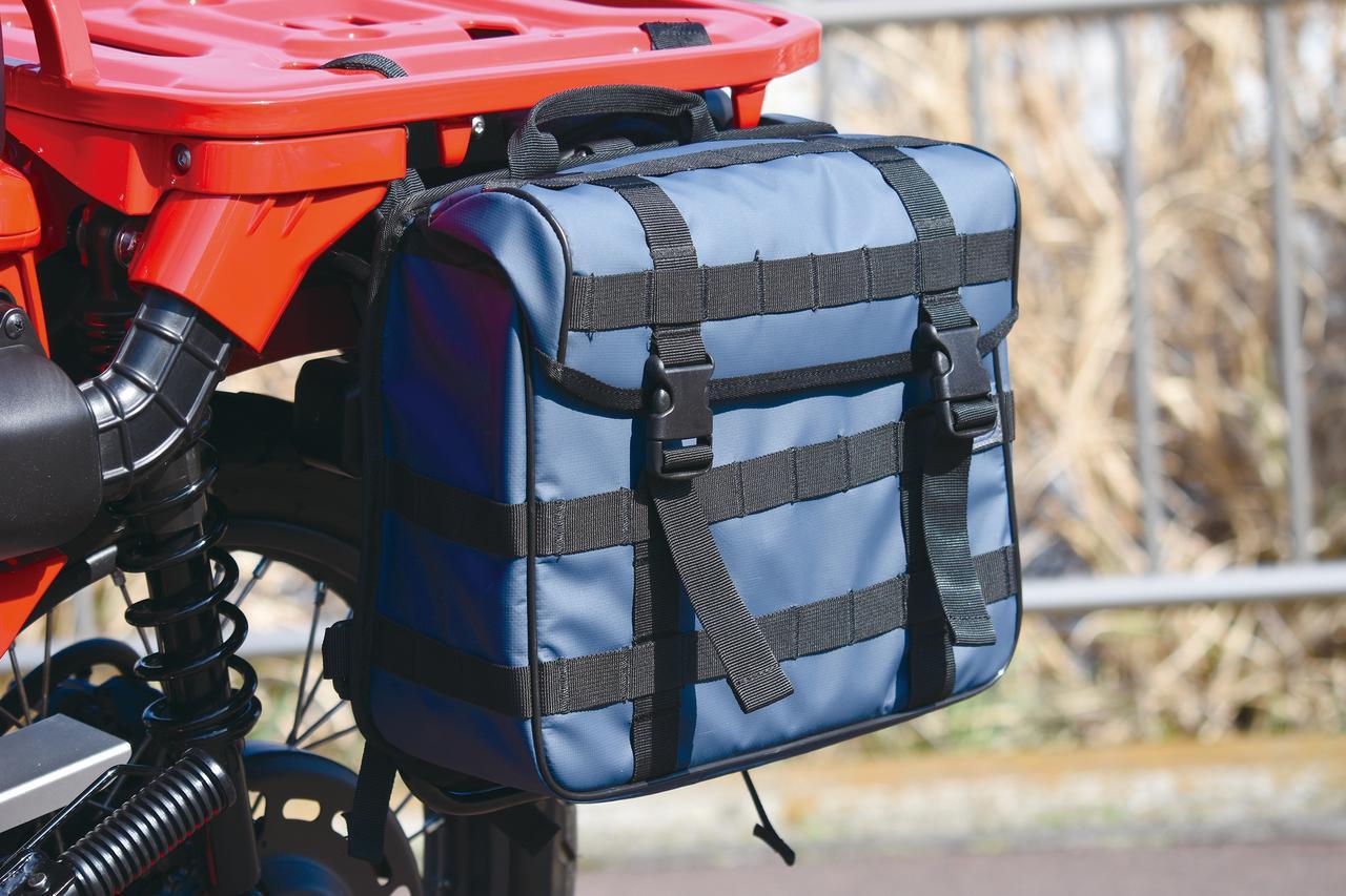 画像: キジマがスタートさせたアウトドアライン「K3」ブランドのタクティカルサイドバッグ。容量13L、写真の青の他、黒/赤/オリーブグリーンあり:税込8580円。