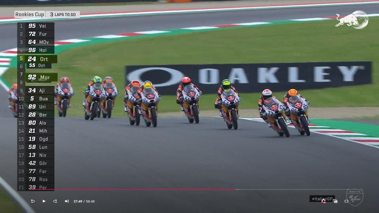 画像: レース終盤、再びトップにたつ#72古里 そのまま!そのまま!