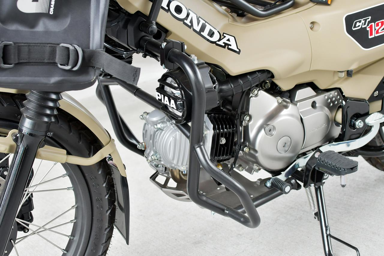 画像: MOTOSKILLのクラッシュバーにPIAAフォグランプを装着。
