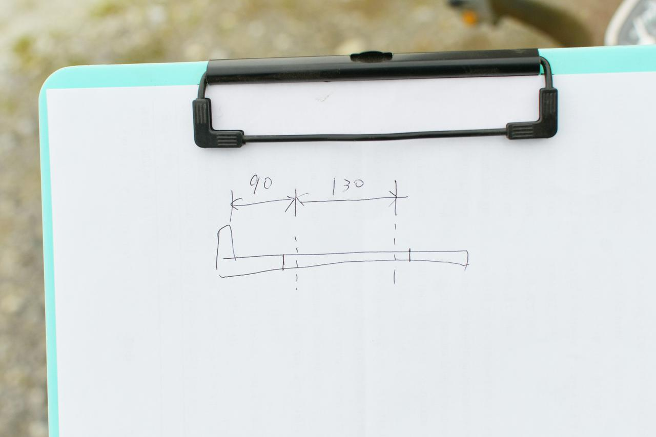 画像3: ④穴開け位置を決めるための採寸