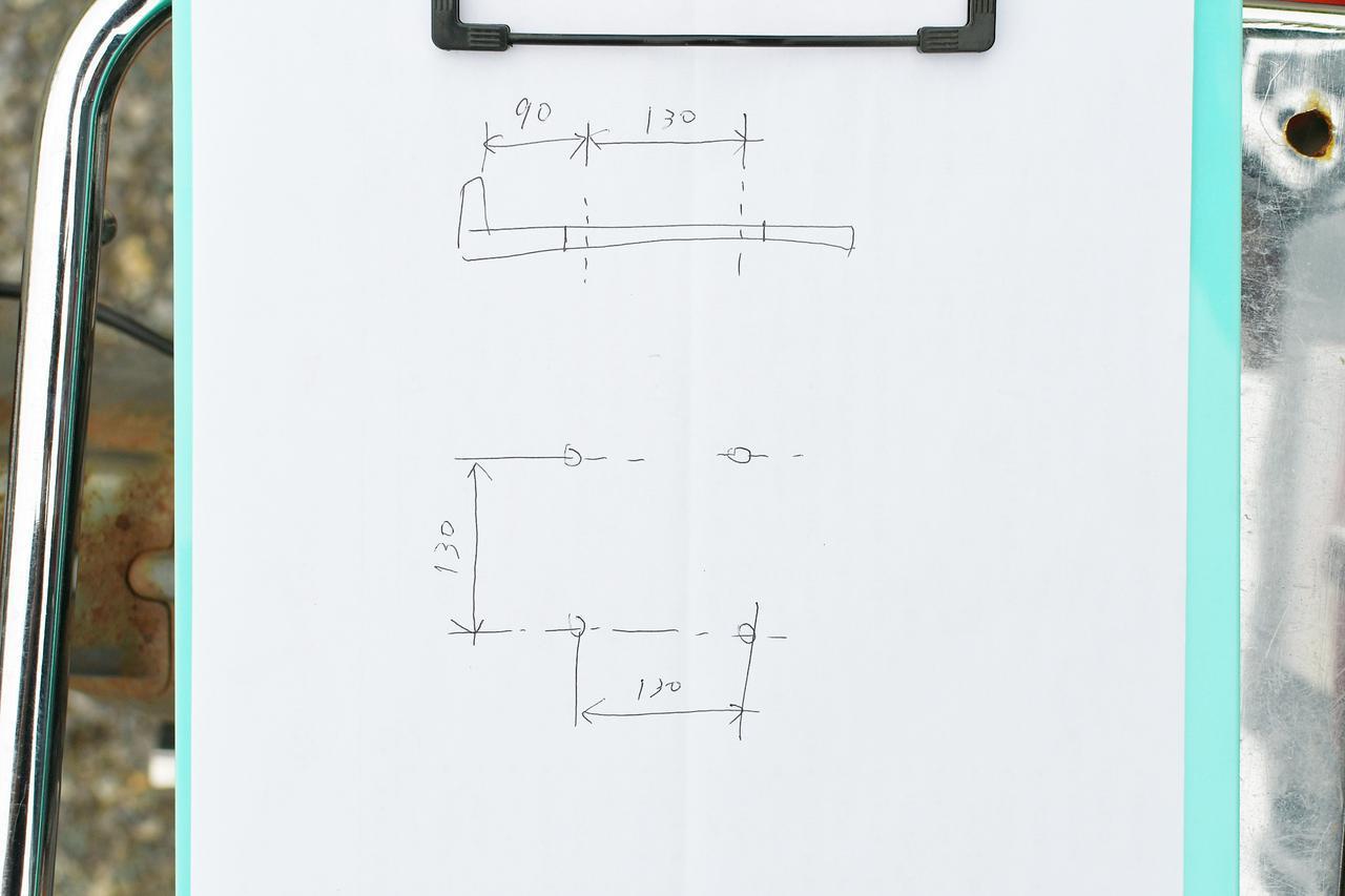 画像5: ④穴開け位置を決めるための採寸