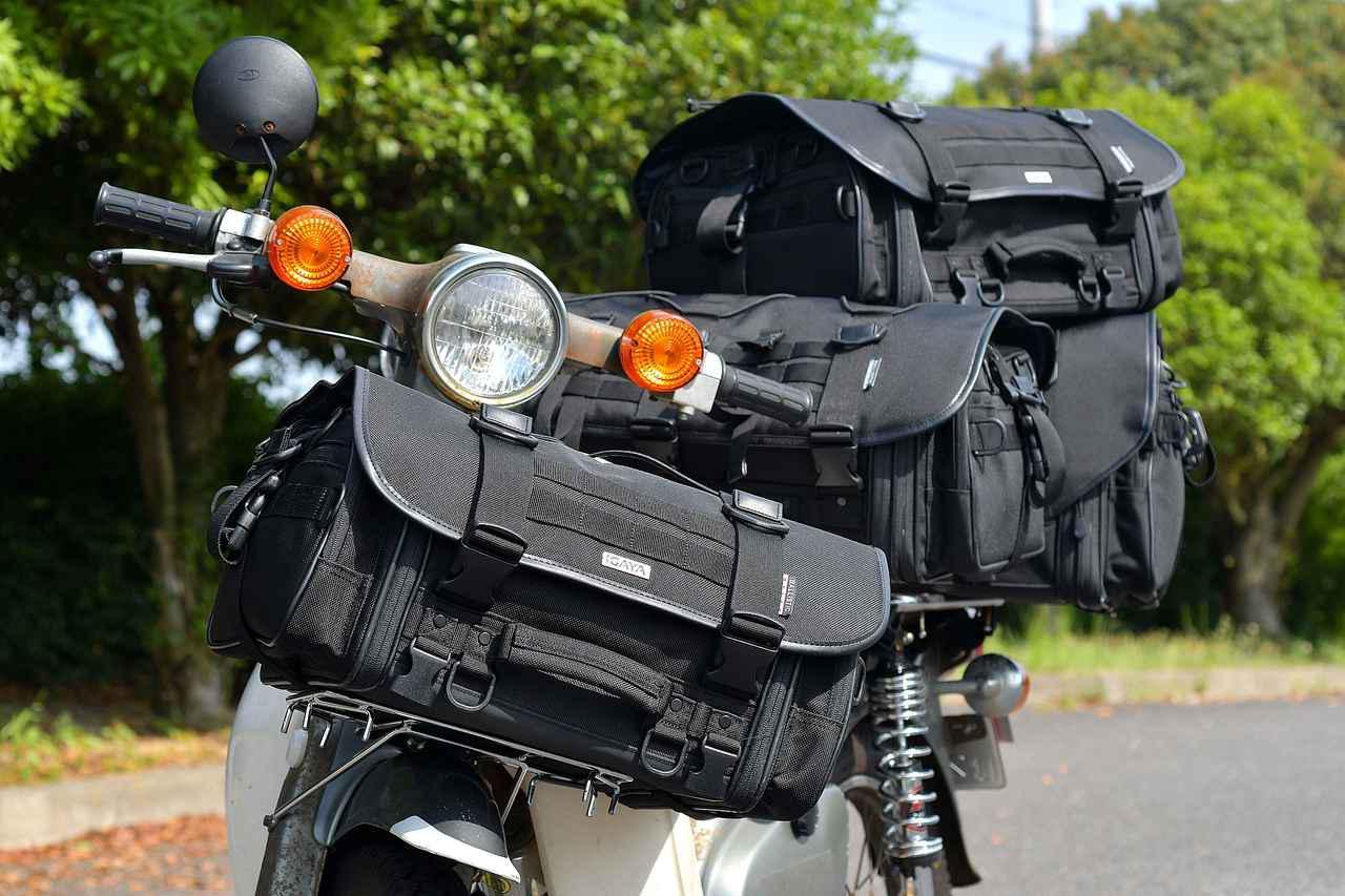 画像: いろんなサイズのシートバッグをCUBに装着してみよう。- webオートバイ