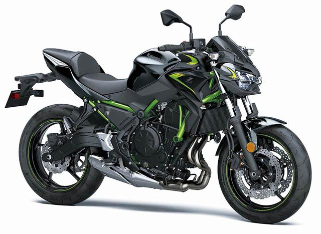 画像: Z650(2022年アメリカ仕様)/ メタリックスパークブラック×メタリックフラットスパークブラック
