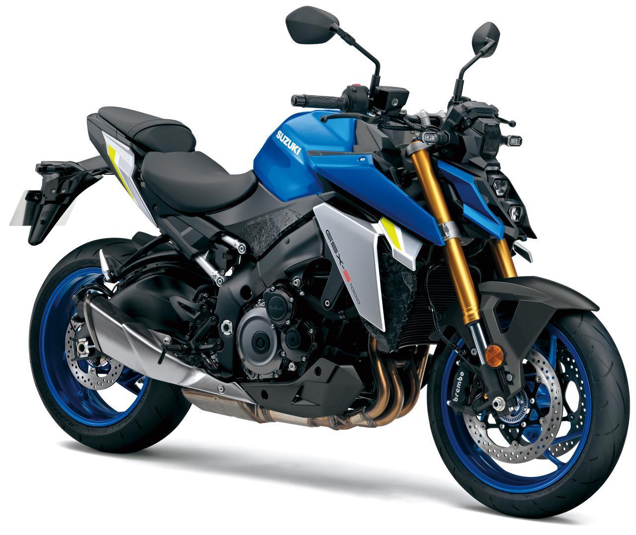 画像: SUZUKI GSX-S1000 欧州仕様・2021年モデル 総排気量:999cc エンジン形式:水冷4ストDOHC並列4気筒 シート高:810mm 車両重量:214kg 国内発売日:未定 税込価格:未定