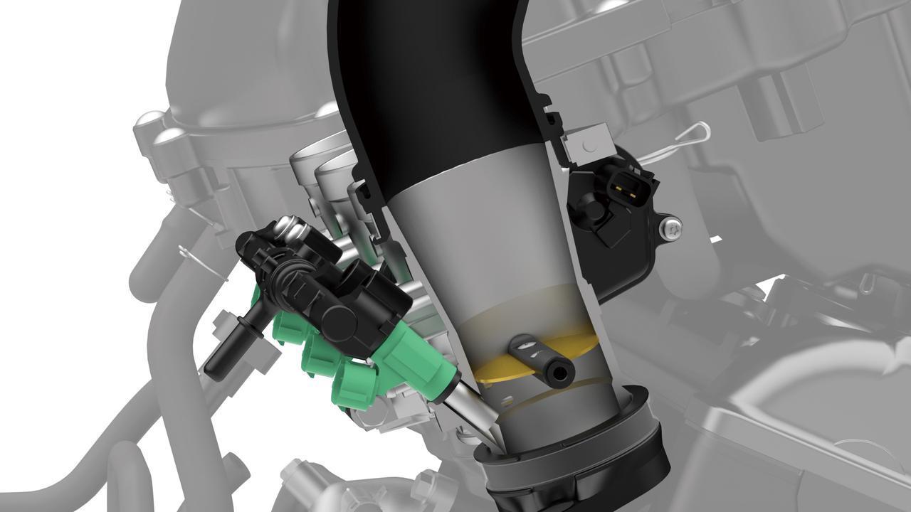 画像: スロットルバイワイヤの採用で制御がきめ細かくなったことに関連し、スロットルバタフライはシングルとしている。