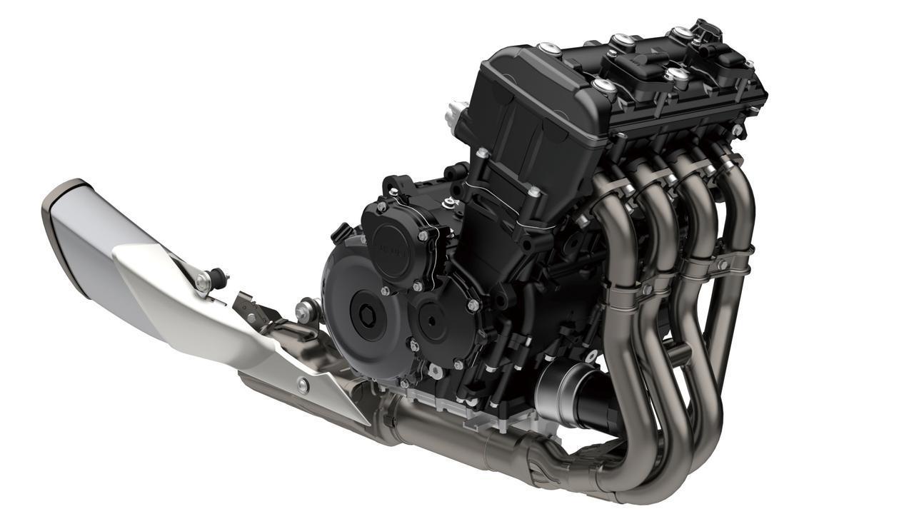 画像: エンジンは従来型のものを熟成させたもの。もともとのルーツはGSX-R1000のK5モデルで、最高出力は152PSに引き上げられた。