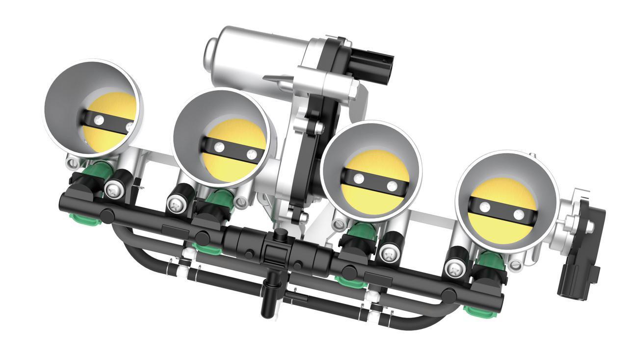 画像: 電子制御スロットルの採用に合わせてスロットルボディーも新作。スムーズなレスポンスの実現に寄与している。
