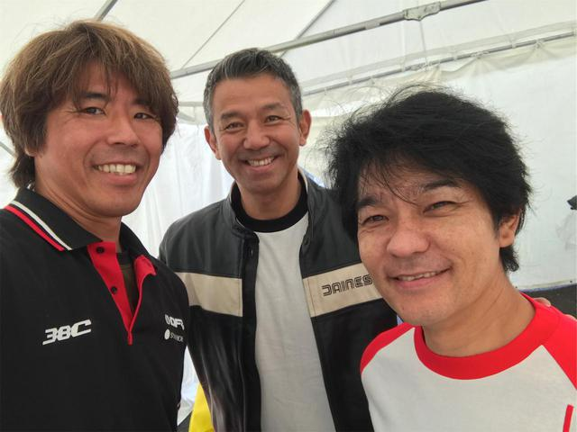 画像: ▲向かって右が原田哲也さん、中央が宮城光さん、左が私 三橋淳。