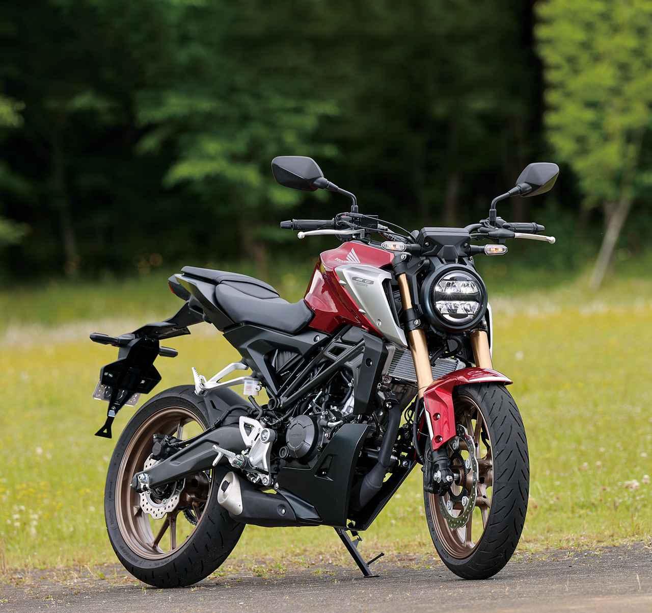 画像: Honda CB125R 2021年モデル 総排気量:124cc エンジン形式:水冷4ストDOHC4バルブ単気筒 シート高:815mm 車両重量:130kg 発売日:2021年4月22日 税込価格:47万3000円