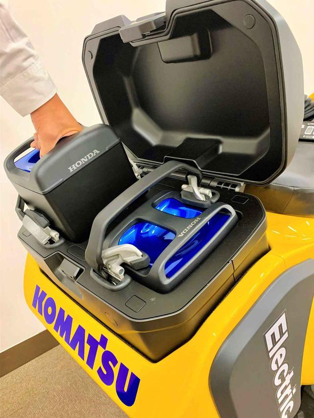 画像: ホンダのモバイルパワーパック2つが、「PC01」の車体後部に搭載されています。 www.honda.co.jp