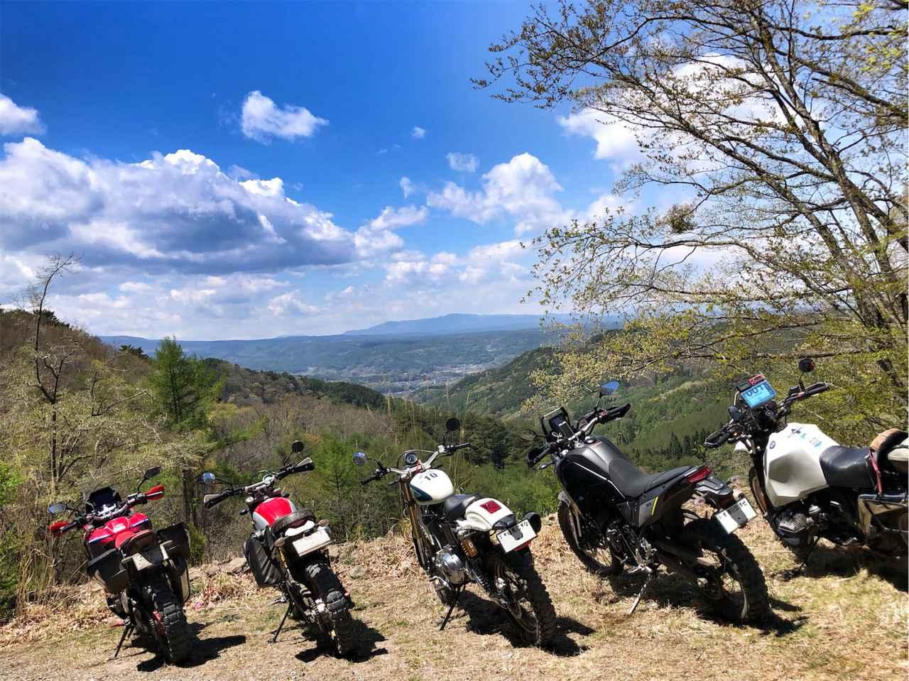 画像1: ビッグバイクは3台から5台に。林道を満喫する