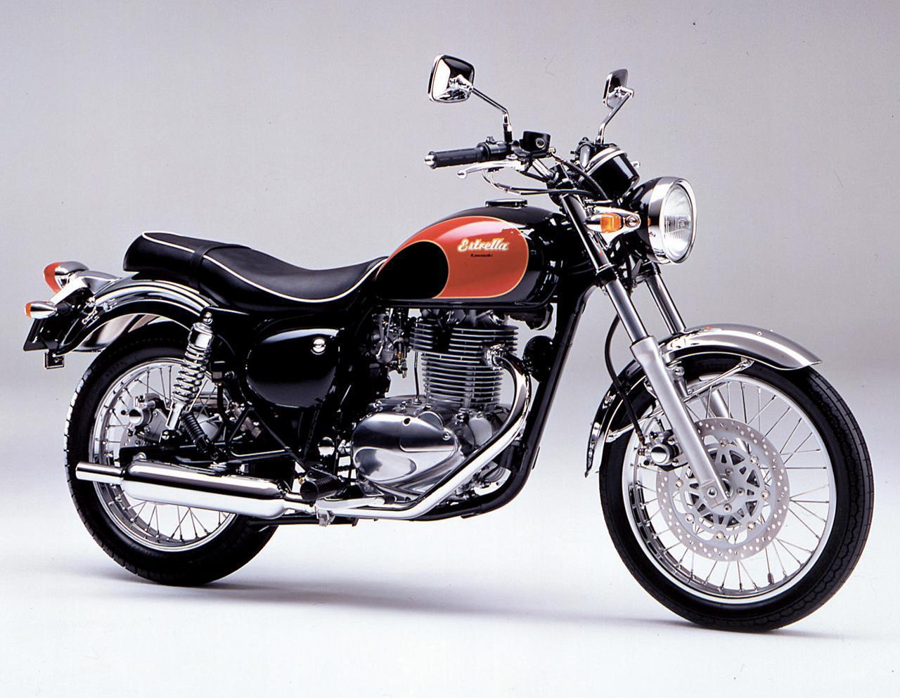 画像: Kawasaki ESTRELLA-RS 1995 発売当時価格:45万円 カラー:エボニー×ファイアクラッカーレッド