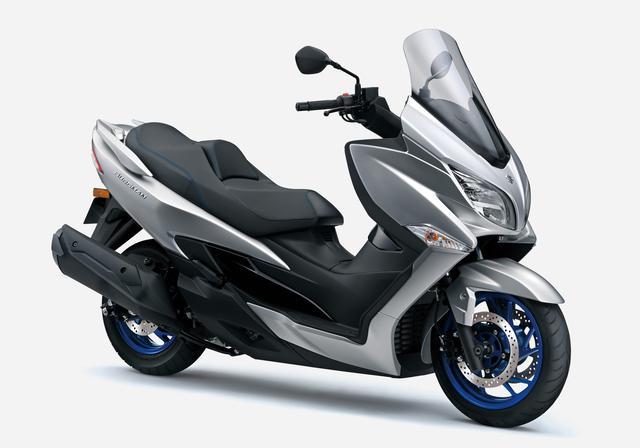画像2: スズキ「バーグマン400 ABS」がモデルチェンジ! トラクションコントロールとツインプラグエンジンを新たに採用