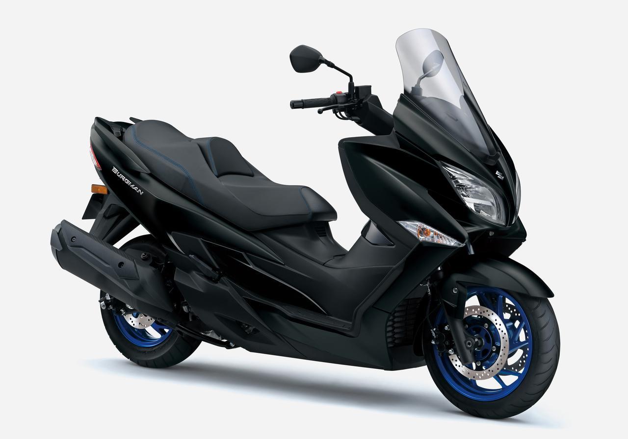 画像4: スズキ「バーグマン400 ABS」がモデルチェンジ! トラクションコントロールとツインプラグエンジンを新たに採用