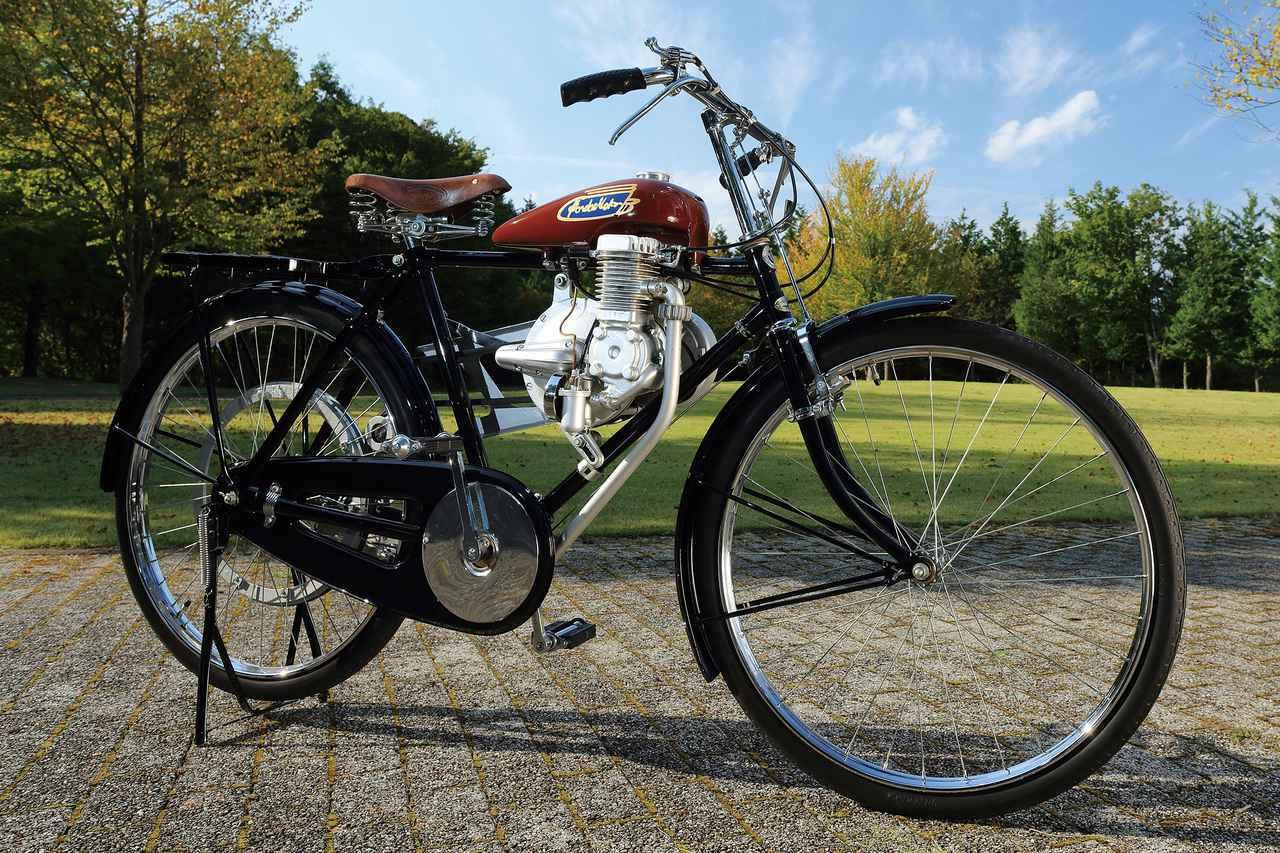 画像: Honda Model A 1947 総排気量:50cc エンジン形式:空冷2ストロータリーバルブ単気筒エンジン 最高出力:1.0PS/5000rpm 当時価格:1万6000円