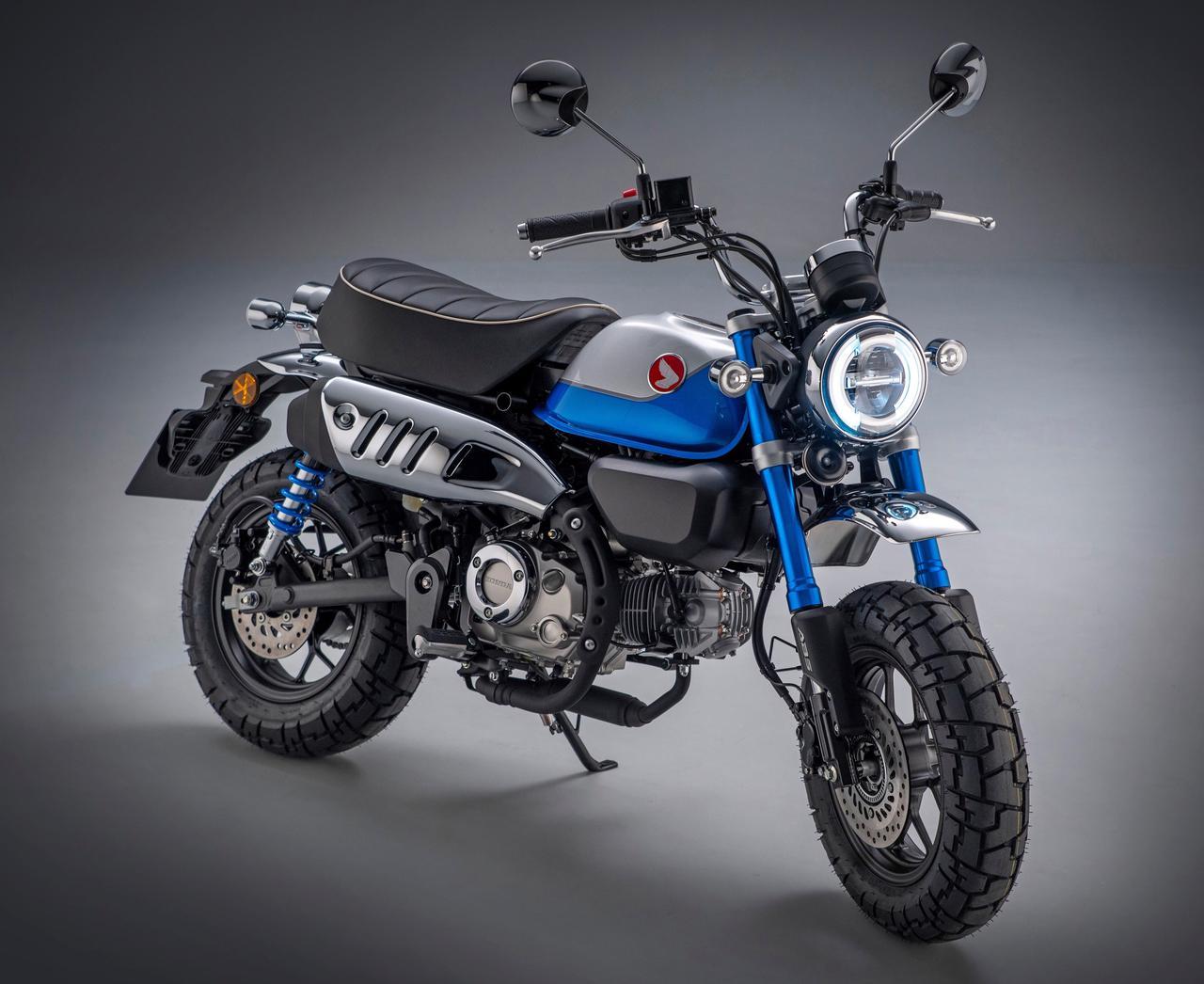 画像: Honda MONKEY125 欧州仕様・2022年モデル 総排気量:124cc エンジン形式:空冷4ストOHC2バルブ単気筒 シート高:775mm 車両重量:104kg