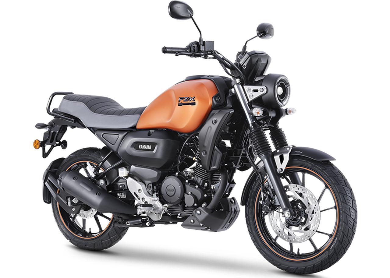 画像: YAMAHA FZ-X インド仕様・2022年モデル 総排気量:149cc エンジン形式:空冷4ストOHC2バルブ単気筒 シート高:810mm 車両重量:139kg