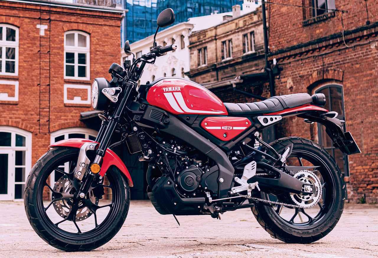 画像: YAMAHA XSR125 欧州仕様車 総排気量:124cc エンジン形式:水冷4ストSOHC4バルブ単気筒 シート高:815mm 車両重量:140kg
