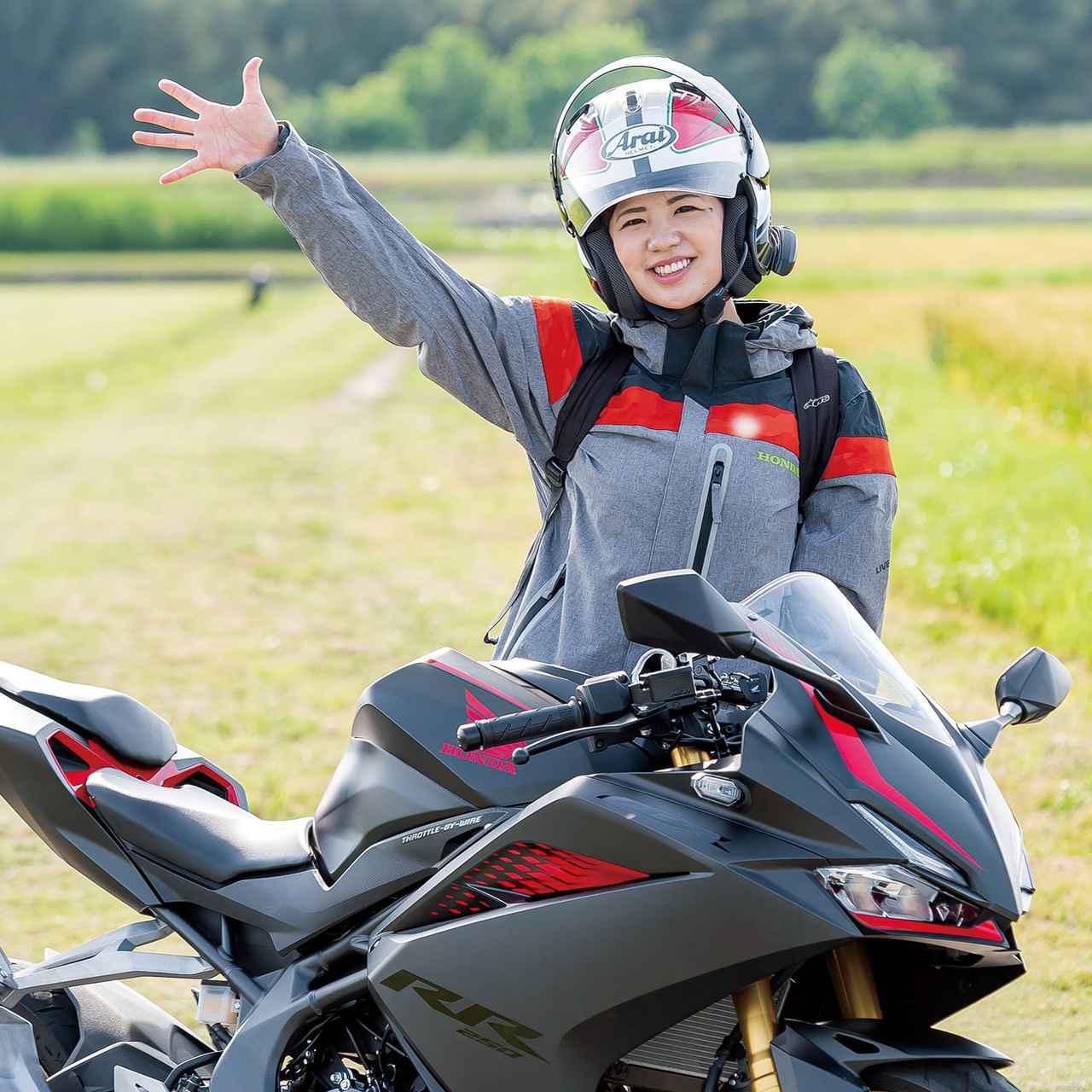 画像: 梅本まどか 愛知県名古屋市出身。元『SKE48』のアイドル時代を経て、現在は地元名古屋を拠点にタレントとして活躍中の彼女は二輪、四輪問わずモータースポーツが大好き。趣味はレース観戦。愛車はHonda CB400SF。