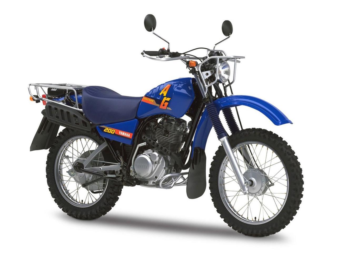 画像: YAMAHA AG200 海外仕様の現行モデル 総排気量:196cc エンジン形式:空冷4ストSOHC2バルブ単気筒 シート高:830mm 車両重量:128kg