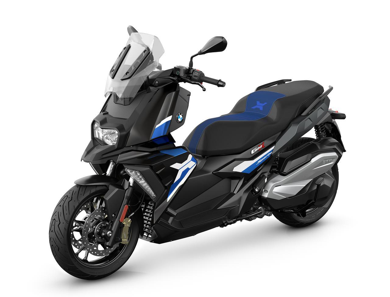 画像: BMW C 400 X 2021年モデル 総排気量:350cc エンジン形式:水冷4ストOHC4バルブ単気筒 シート高:775mm 車両重量:206kg 発売日:2021年7月16日(金) 税込価格:87万円~