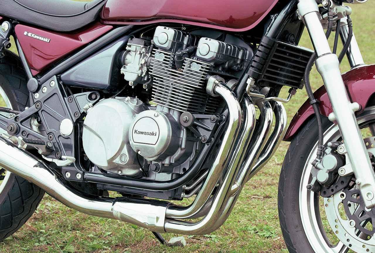 画像: エンジンは79年の名車・Z400FX用として開発されものをルーツとする。96年に4バルブエンジンを搭載したゼファーχに進化。