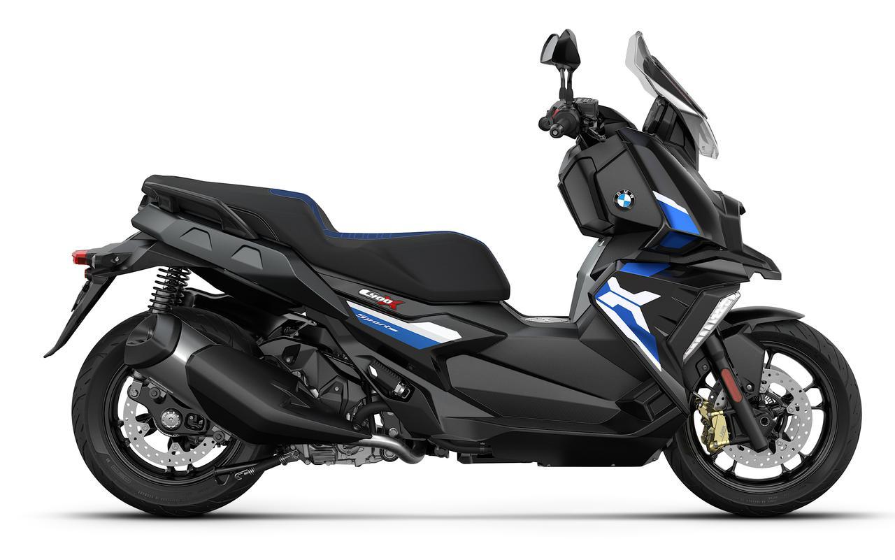 画像: BMW C400X/ブラック・ストーム・メタリック×レーシング・ブルー・メタリック