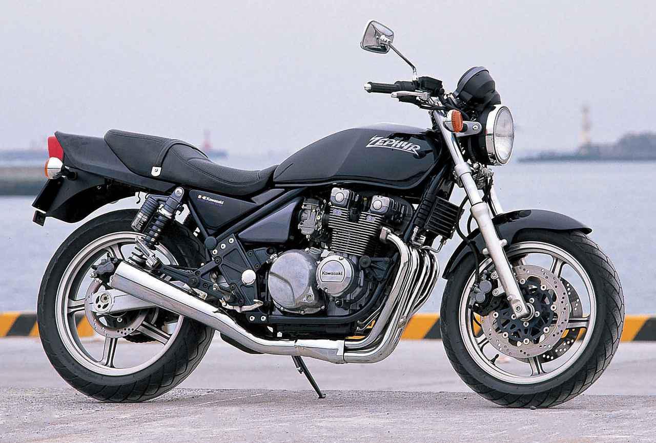 画像: Kawasaki ZEPHYR 1989 総排気量:399cc エンジン形式:空冷4ストDOHC2バルブ並列4気筒 乾燥重量:177kg 当時価格:52万9000円