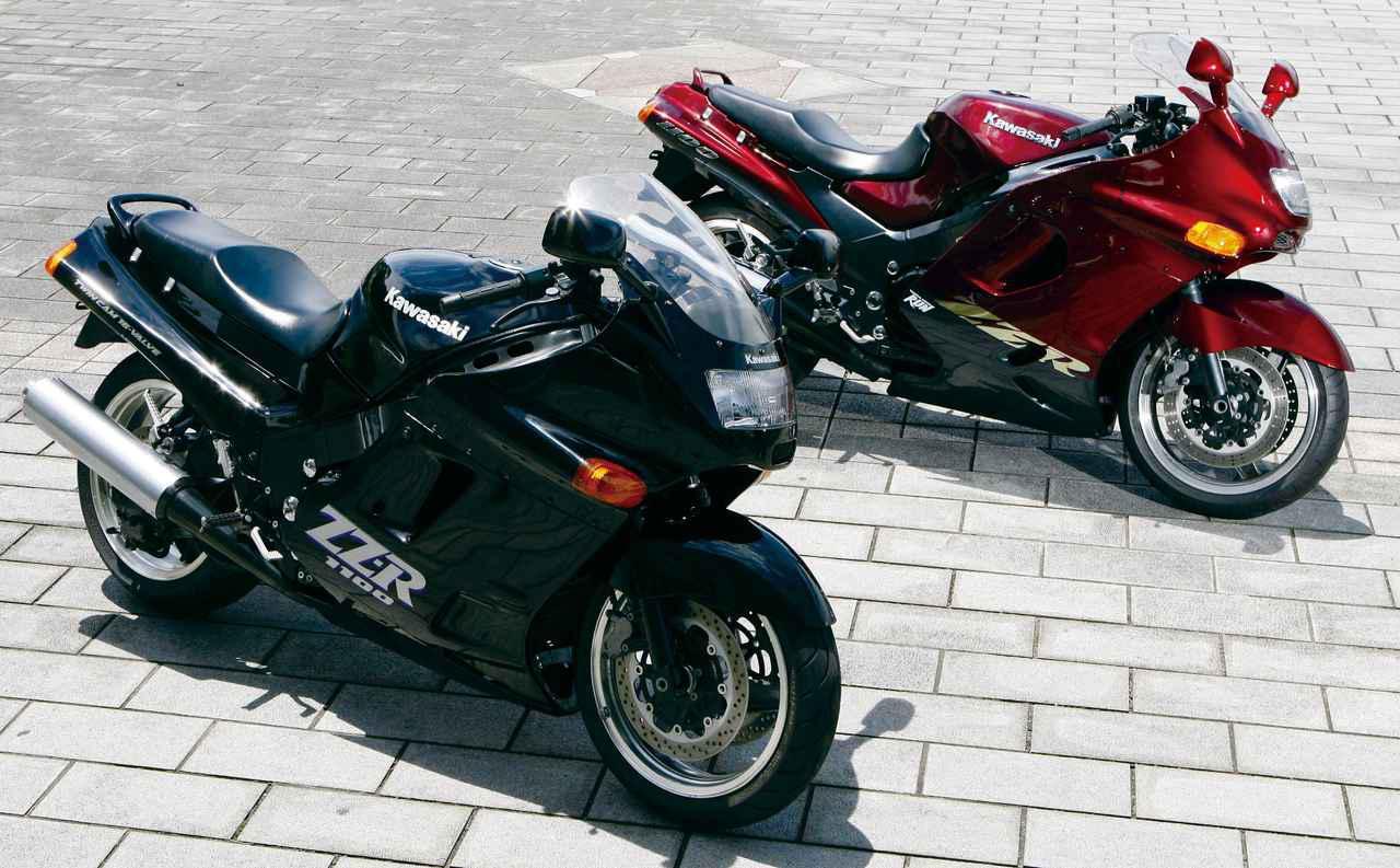 画像: Kawasaki ZZ-R1100 1990年登場 総排気量:1052cc エンジン形式:水冷4ストDOHC4バルブ並列4気筒