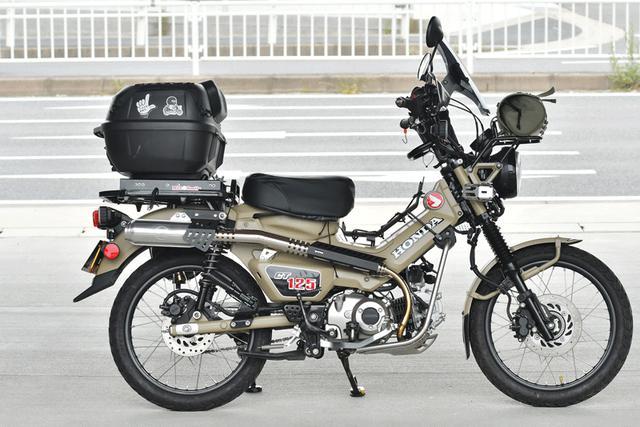 画像: キャリアが伸びるとマジ便利。オールカブスライドキャリアで積載自由度無限大! - webオートバイ