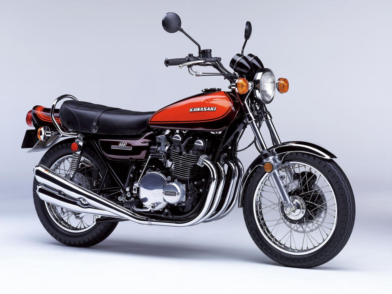 画像: Kawasaki 900SUPER4 Z1 発売年月:1972年11月 総排気量:903cc エンジン形式:空冷4ストDOHC2バルブ並列4気筒 乾燥重量:230kg