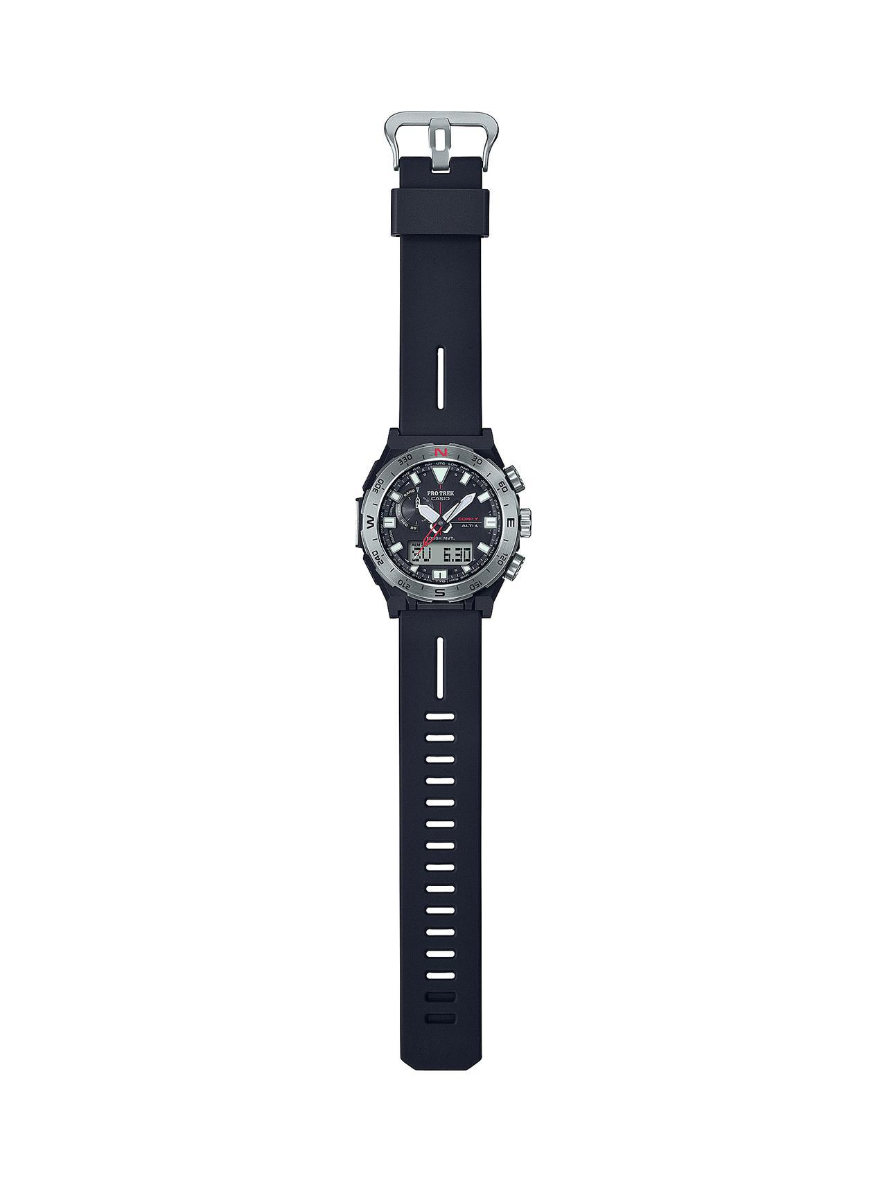 画像2: 方位計測機能に特化したプロトレックの腕時計が新登場! 回転ベゼルを採用、紙の地図との併用を想定した旅するハイテクウォッチ