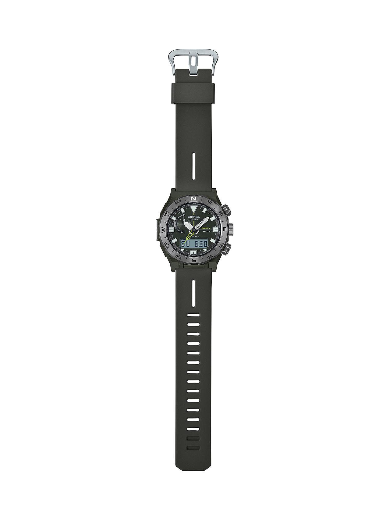 画像6: 方位計測機能に特化したプロトレックの腕時計が新登場! 回転ベゼルを採用、紙の地図との併用を想定した旅するハイテクウォッチ
