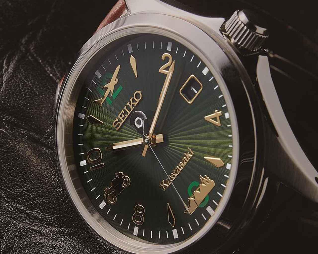 画像: カワサキがセイコーと初コラボ! 文字板にバイク・船・飛行機をあしらった腕時計「カワサキ×SEIKO LSAウオッチ」 - webオートバイ