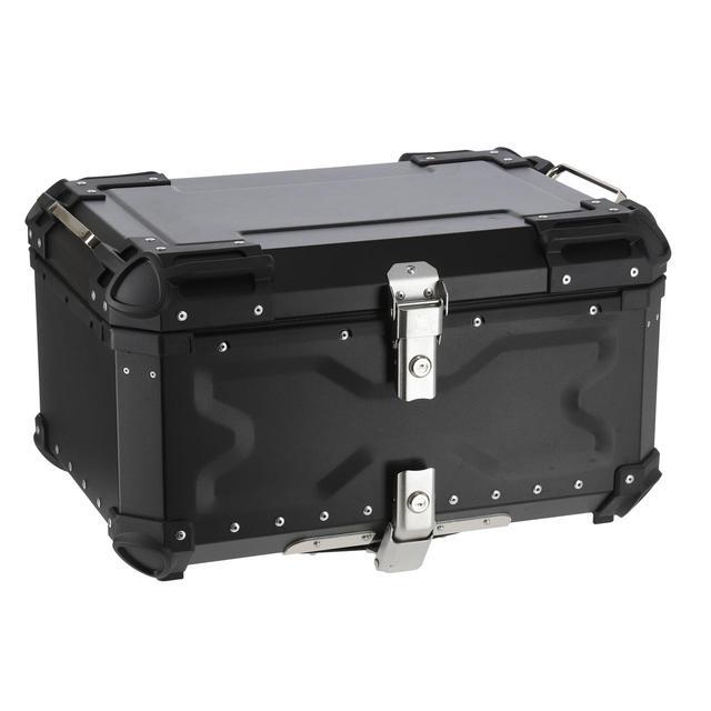 画像: HARD WORX トップケース HX65 65L 税込価格:3万9600円 カラー:シルバー、ブラック 容量:65L 外寸:575×395×325mm 重量:9.5kg(ベースプレート+本体) 付属品:六角ボルト(短)×4本、六角ボルト(長)×4本、ワッシャー×4枚、ナット×4個、鍵×2本、プレート×4枚、ベースプレート×1枚、取扱説明書、リフレクター×2枚 ※取り付けの際は4mmの六角レンチが必要です。