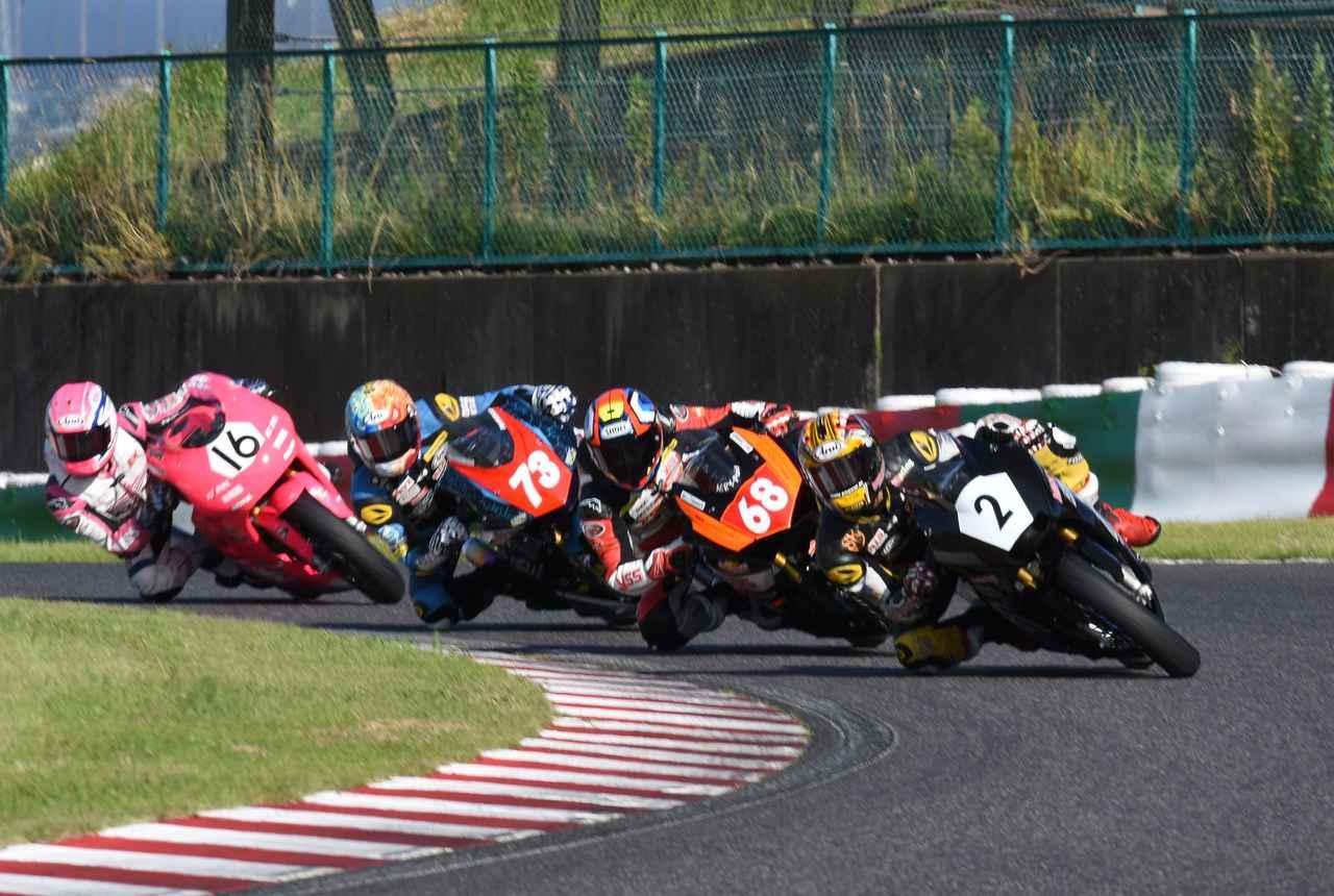 画像: 田中→篠崎→中村→鈴木のトップグループ 全員が1~4番手を経験してのレースだった!?