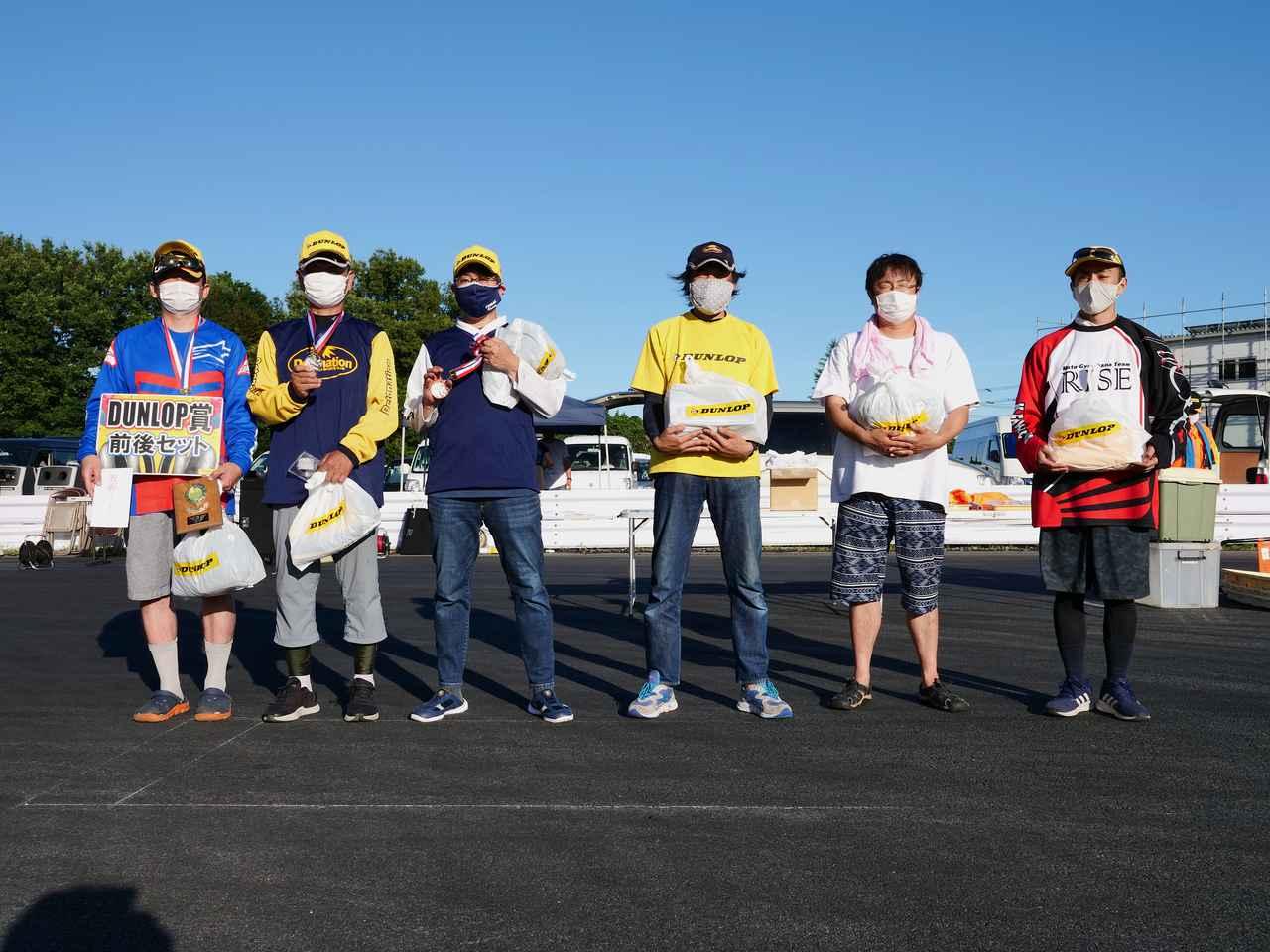 画像: A級入賞者 左から1位・池田選手、2位・作田選手、3位・冨永選手、4位・中嶋選手、5位・角谷選手、6位・小川選手