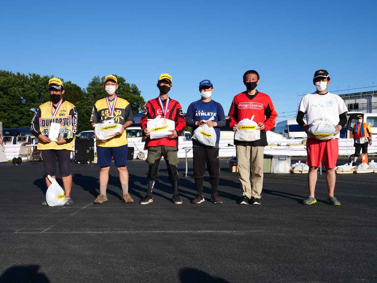 画像: ●B級入賞者 左から1位・木村健太選手、2位・濱田 令選手、3位・池浦彰寿選手、4位・井川洋一選手、5位・関根 健選手、6位・柳田悦豪選手