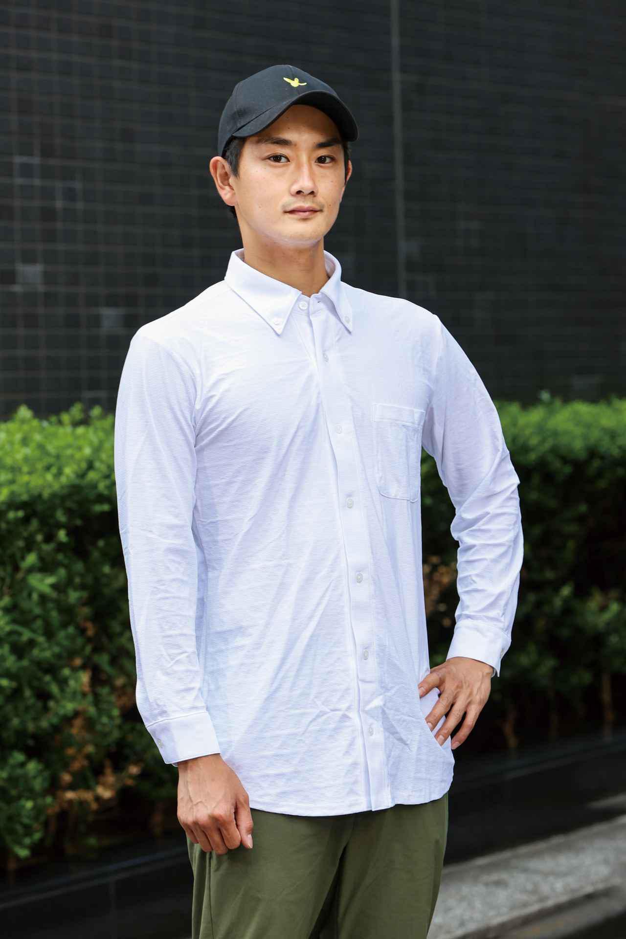 画像: FREEZE TECH/冷却長袖ボタンダウンシャツ 税込価格:12,980円 サイズ:S、M、L、XL カラー:ホワイト