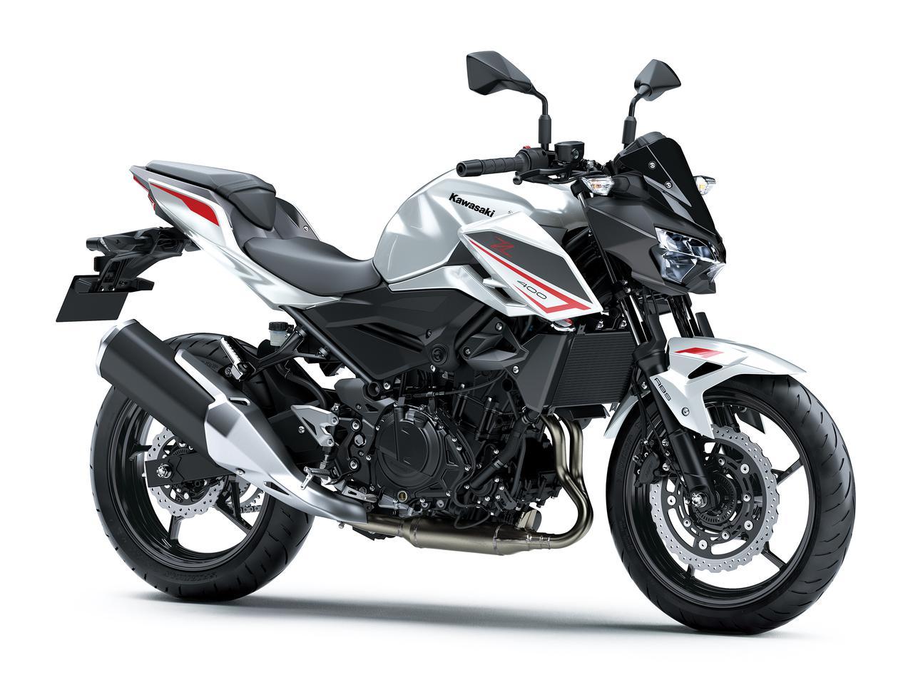 画像: Kawasaki Z400 総排気量:398cc エンジン形式:水冷4ストDOHC4バルブ並列2気筒 シート高:785mm 重量:166kg 発売日:2021年9月24日 税込価格:68万2000円