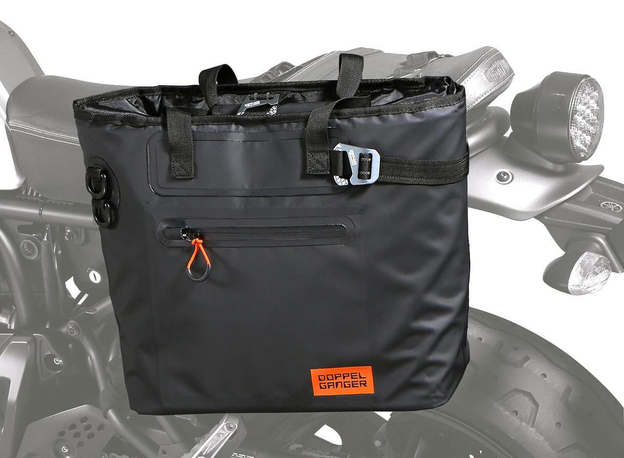 画像: ターポリンシングルサイドトートバッグ モデル:DBT510-BK 容量:17L 重量:1.4kg 最大積載量:5kg