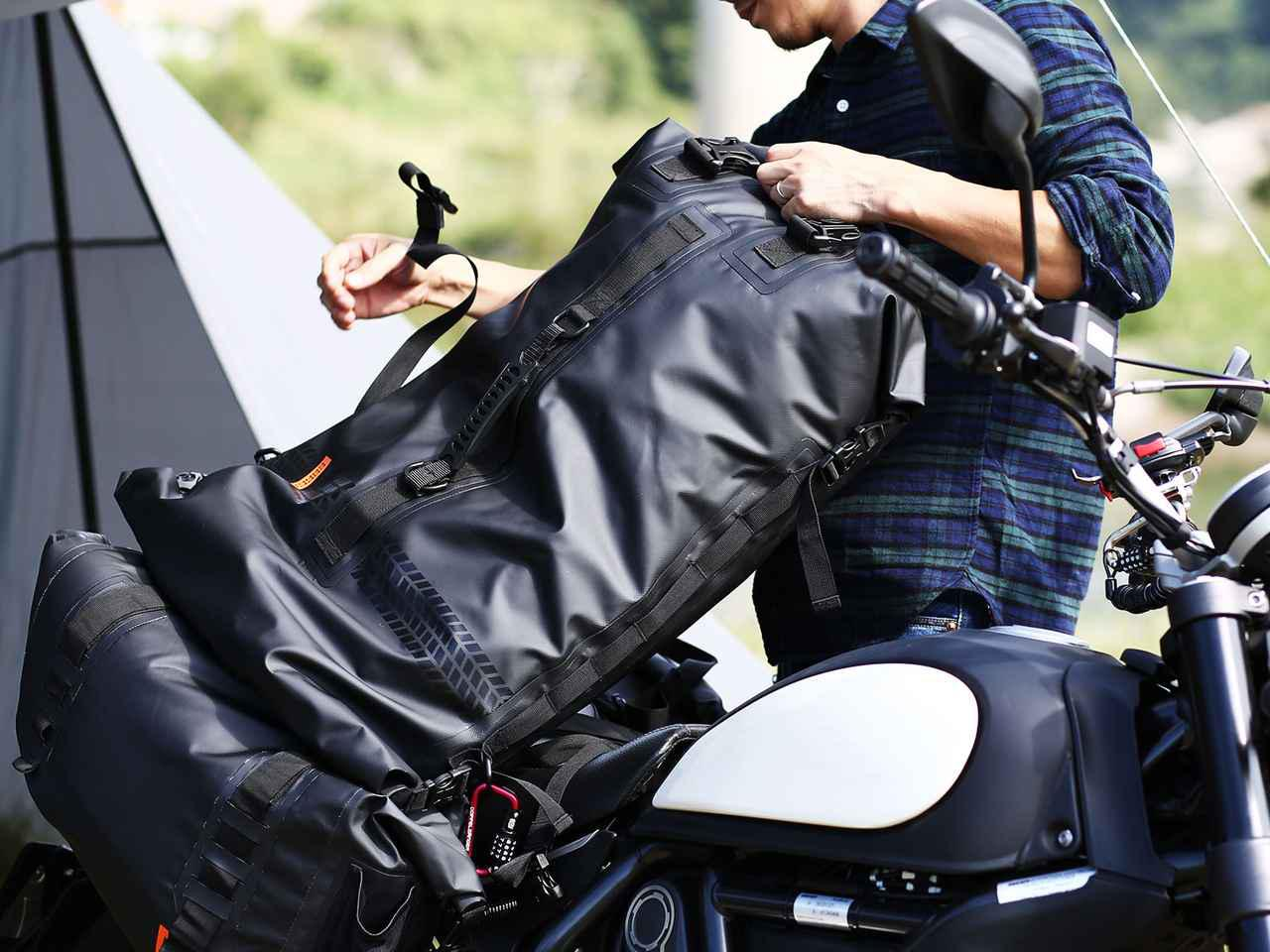 画像: 容量60L「ターポリンツーリングシートバッグ」の紹介記事 - webオートバイ