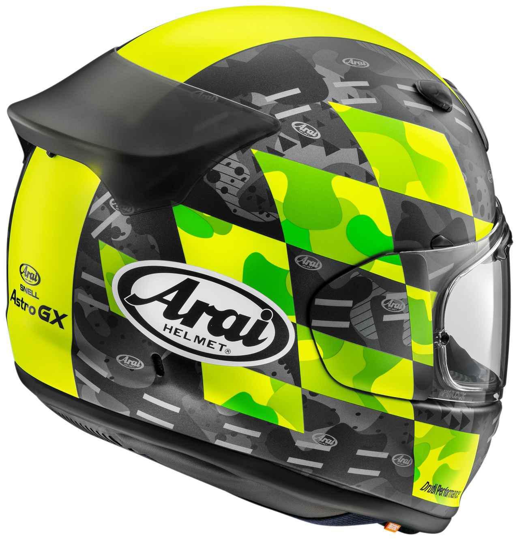 画像4: アライの最新ヘルメット・アストロGXに新たなグラフィックモデル「チェッカー」が登場! カラーは3色の設定