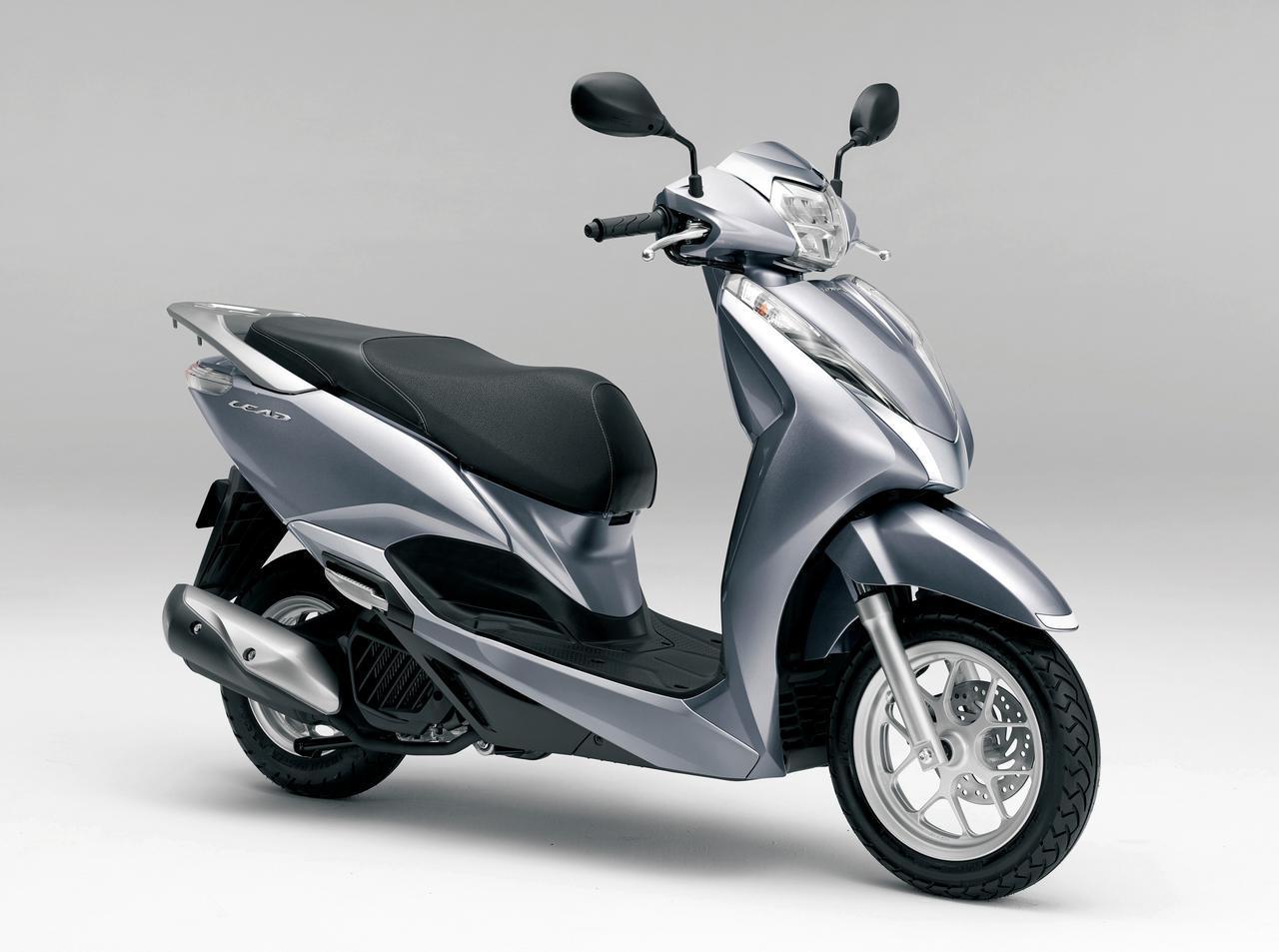 画像: Honda LEAD125 総排気量:124cc エンジン形式:水冷4ストOHC単気筒 シート高:760mm 車両重量:114kg 税込価格 31万5700円:パールダークアッシュブルー(ツートーン)、ポセイドンブラックメタリック(ツートーン)、パールメタロイドホワイト(ツートーン) 31万9000円:キャンディラスターレッド、ランベントシルバーメタリック、パールメタロイドホワイト