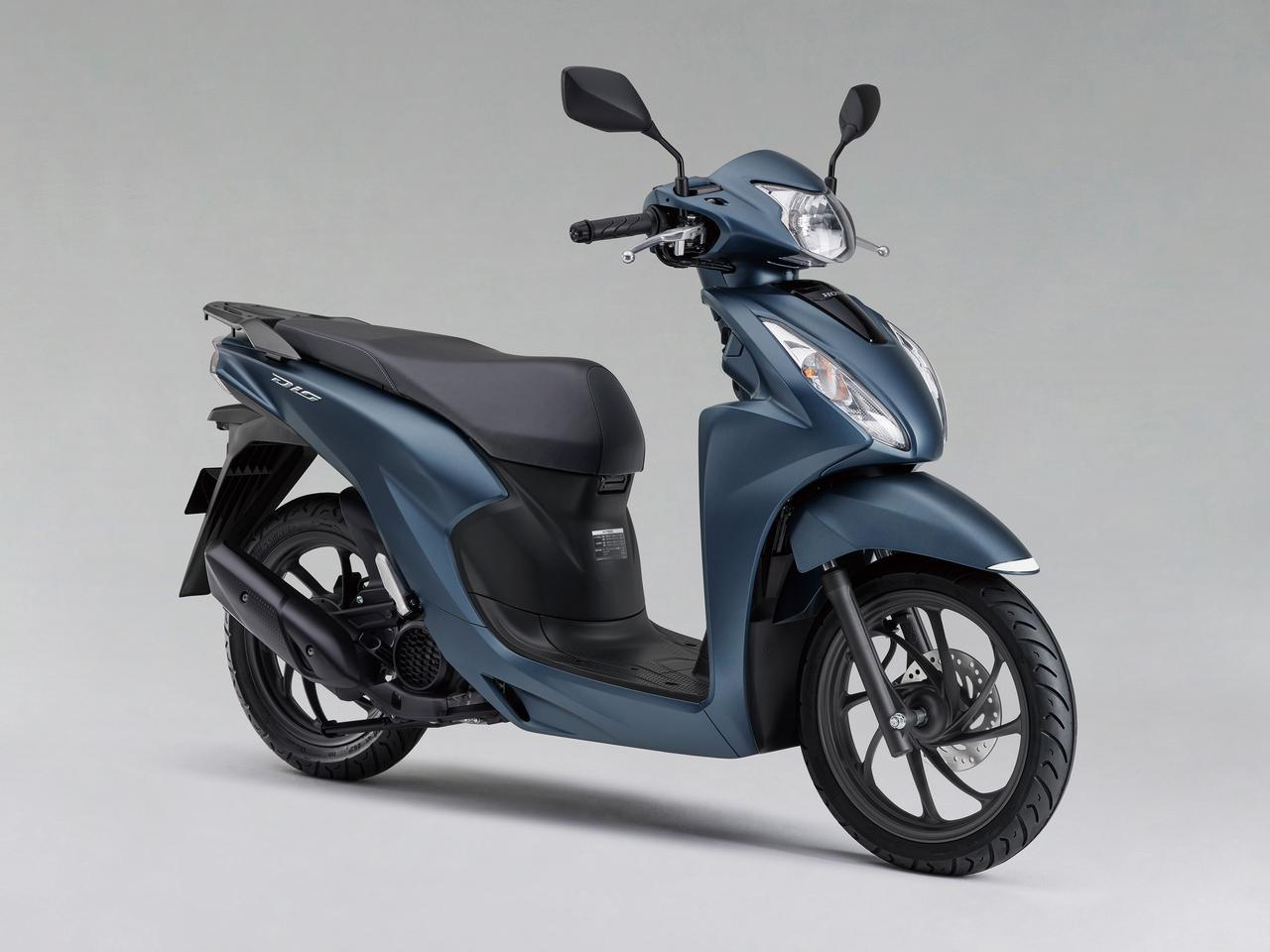 画像: Honda Dio110 総排気量:109cc エンジン形式:空冷4ストOHC単気筒 シート高:760mm 車両重量:96kg 税込価格 24万2000円:パールジャスミンホワイト、ディセントシルバーメタリック 24円5300円:マットスターリーブルーメタリック、マットギャラクシーブラックメタリック