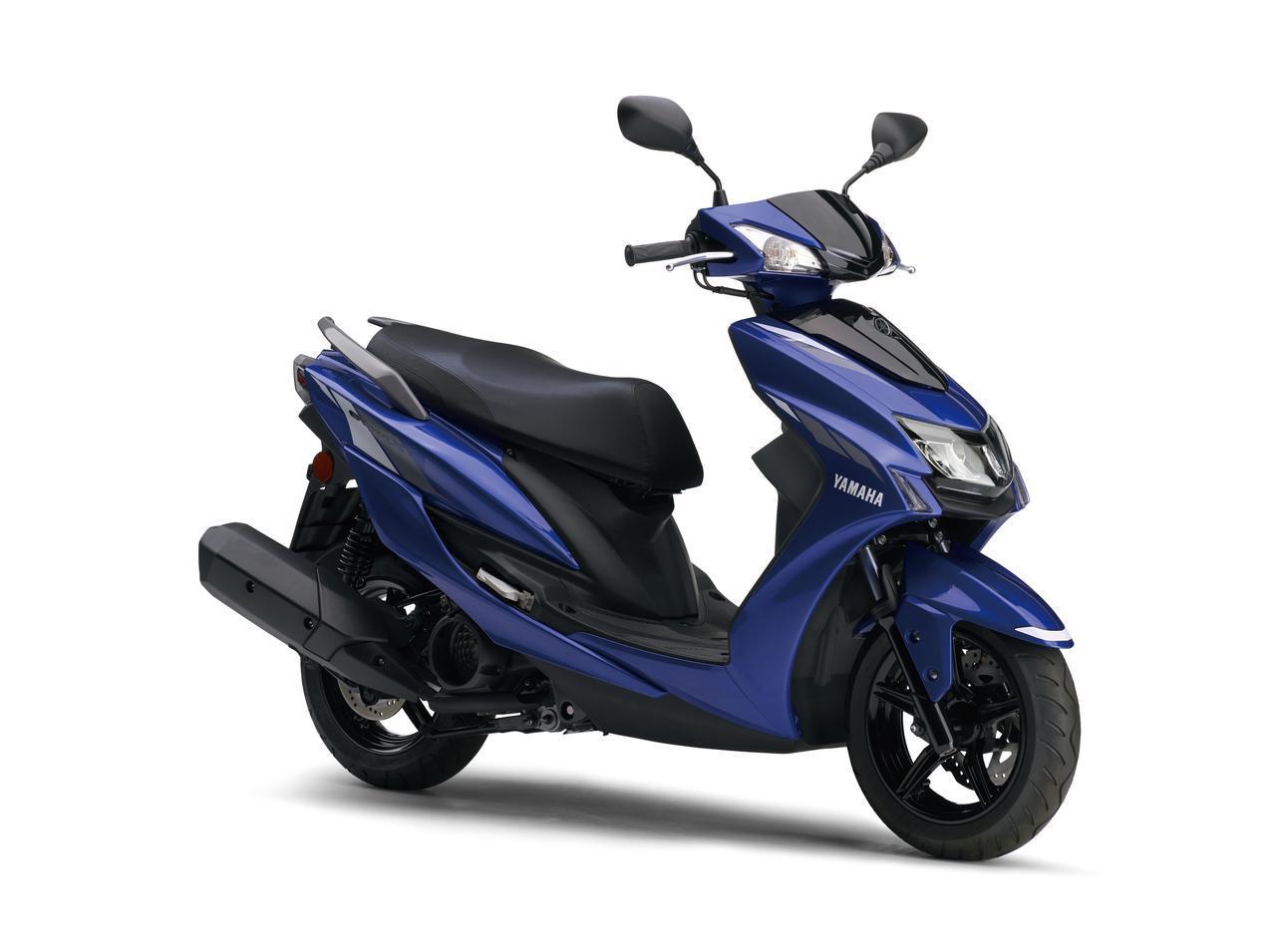 画像: YAMAHA CYGNUS X 総排気量:124cc エンジン形式:空冷4ストSOHC4バルブ シート高:775mm 車両重量:119kg 税込価格:33万5500円