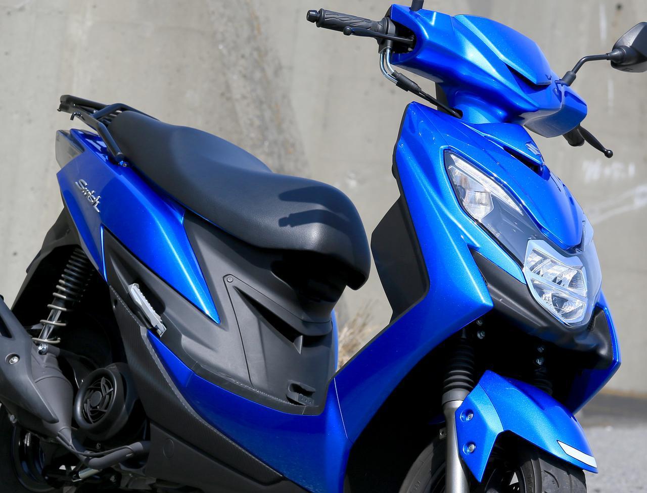画像: スズキ「スウィッシュ」インプレ(2021年)PCXやNMAXとはまた異なる125ccスクーターならではの魅力 - webオートバイ