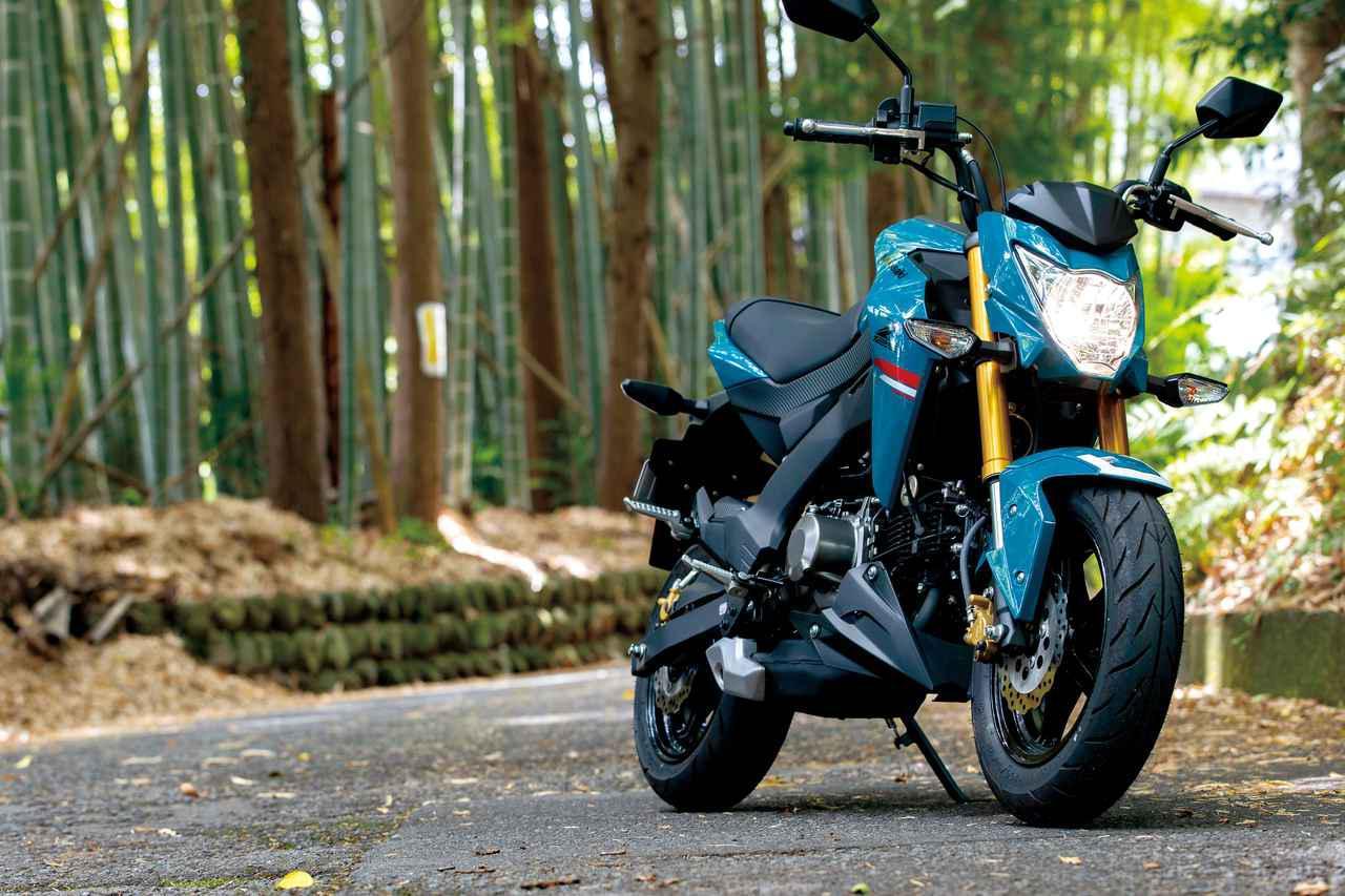 画像: Kawasaki Z125 PRO 総排気量:124cc エンジン形式:空冷4ストSOHC2バルブ単気筒 シート高:780mm 車両重量:102kg 税込価格:35万2000円